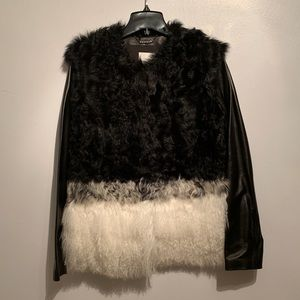 Brand new Ashley B. Shearling jacket